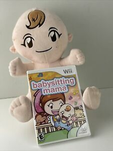Babysitting Mama Nintendo Wii Doll Baby and Game No Diaper Very Clean Disc