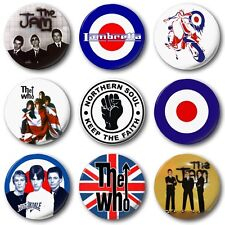 "MOD BADGES (Various Designs) - 1"" / 25mm Button Badge - Jam Who Weller Scooter"