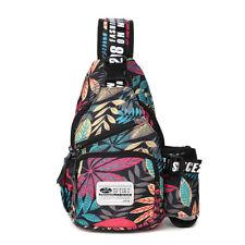 Men's Nylon Chest Sling Pack Backpack Shoulder Bag Biker Crossbody Satchel