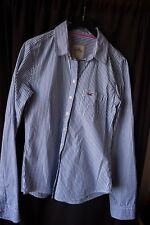 HOLLISTER STRIPED NAVY AND WHITE COTTON SHIRT SIZE  S