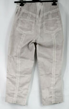 BARBARA SPEER STONE HEAVY COTTON MIX RELAXED STYLE TROUSERS SIZE  XS
