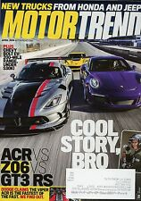 Motor Trend Magazine April 2016 Acr Vs Z06 Vs GT3 RS