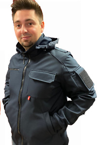 Feuerwehr Jacke Softshell 9900-K elegante Ganzjahresjacke + abknöpfbarer Kapuze