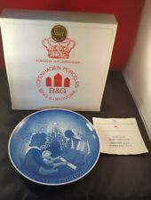 BING & GRONDAHL JULE AFTER COLLECTORS PLATE DENMARK CHRISTMAS 1971 Box & Insert