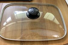 "Presto Glass Cover Lid Electric Fry Pan Skillet - app 12"" x 16"""