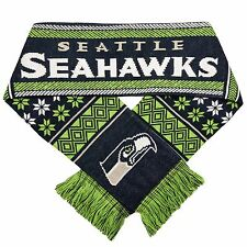 Seattle Seahawks Scarf Knit Winter Neck - Double Sided Lodge New 2016