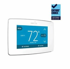 Emerson ST75W Sensi Touch Wi-Fi Thermostat, White