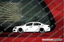 2x LOW vw Passat R36 , B6 sedan Lowered volkswagen outline stickers
