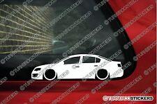 2x LOW vw Passat R36 , B6 sedan Lowered volkswagen outline stickers