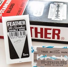 50 Feather Razor Shaving Blades Platinum Coated HI-STAINLESS Double Edge Japan