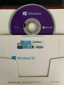 NEW WlNDOWS 10 64 bit DVD & Product Key  Genuine