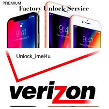 VERIZON IPHONE X / 8 / 8+ PREMIUM FACTORY UNLOCK SERVICE - ALL IMEI SUPPORTED