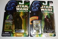 Star Wars Lot of 2 Action Figures - Darth Vader w Lightsaber Imperial Droid POTF