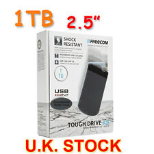 1TB Freecom ToughDrive USB3.0 & 2.0 Shock Resistance MOBILE Hard Disk Drive U.K.