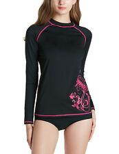 TSLA Women's UPF 50+ Rash Guard Long Sleeve, UV/Sun Protection Swim Shirts