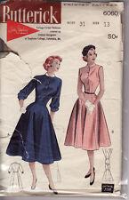 "6060 BUTTERICK c.1950s - Susie Stephens DRESS w 6 Gore Skirt - Sz 13 B 31"""
