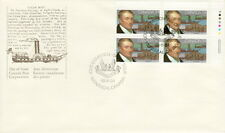 CANADA #1117 34¢ JOHN MOLSON UR PLATE BLOCK FIRST DAY COVER