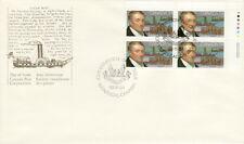 CANADA #1117 34¢ JOHN MOLSON UR PLATE BLOCK FIRST DAY COVER