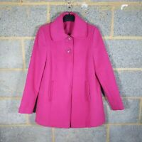 Ladies Petite brand Jacket coat Size 10 UK Fuchsia Pink VGC free postage