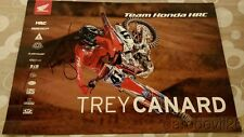 2016 Trey Canard signed Team Honda CRF450R AMA Supercross Motocross poster