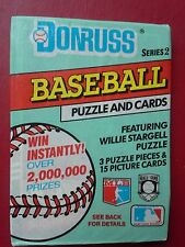Donruss Series 2 Baseball Cards (15 Cards and 3 Willie Stargell Puzzle Pieces)