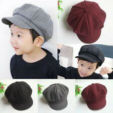 Toddler Infant Boy Girl Beret Cap Dome Octagonal Hat Baseball Casquette