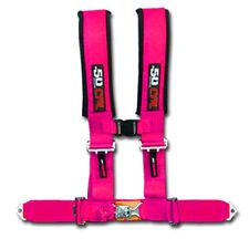 50 Caliber Racing Seat Belt Harness Pink 2in 4 Point Polaris Ranger RZR ACE 2019