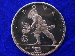 1970 RAS AL KHAIMA ARAB EMIRATE rare ROMA golden COIN UNC PROOF