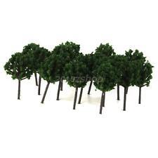 50pcs Dunkelgrüne Modell Bäume - Z Zug Layout Street Scenery Wargame