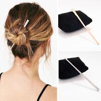 Simple Women Lady Metal Hair Stick Hair Chopsticks Hairpin Pin Accessories New