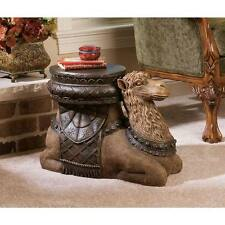 "Design Toscano The Kasbah Camel Hand Painted 16"" Sculptural Side Table"