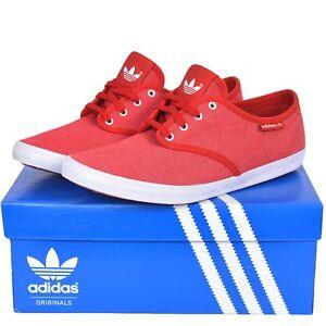 Adidas Originals Adria Ps Zapatos Mujer Lona Miel Ocio Zapatillas Rojo/Blanco