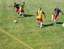 Kwik Goal Yellow Nylon Training Grid Set Soccer Game 16A1801