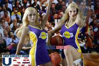 "1/6 NBA Lakers Cheerleader Costumes Set A For 12"" TBLeague PHICEN Figure U.S.A."