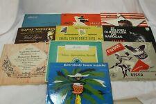 "Latin Classical Dance World Assortment Records 10"" 33 rpm  Various Artists"