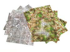"""6""""x6"""" Modular Flip Tiles Barren Earth/Marsh RPG Map game mat dnd D&D pathfinder"""