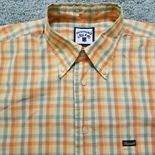 Faconnable Large Short Sleeve Shirt Orange Plaid