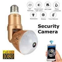 1080P IP CCTV-Sicherheit Wifi 360 ° Panorama IR-Kamera Nachtsicht Glühlampe