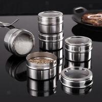 2x Seasoning Storage Kitchen Condiment Container For Salt Sugar Spice Pepper