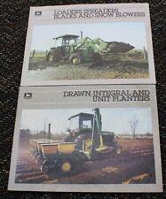 2 lot 1985 John Deere Brochures Drawn Integral Unit Planters Spreaders Blades