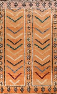 Geometric Moroccan Oriental Area Rug Hand-knotted Living Room Large Carpet 10x14