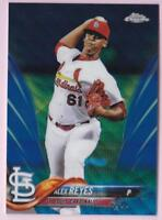 ALEX REYES 2018 TOPPS CHROME BLUE WAVE REFRACTOR #37/75 CARDINALS #5