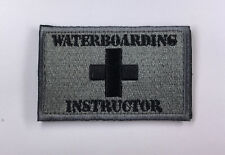 Waterboarding Instructor Military Patch Army Morale Badge Armband HOOK Patches