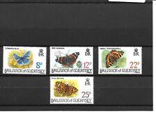 Papillons (Butterflies) - Guernesey - 1981 - Neufs ** (MNH)