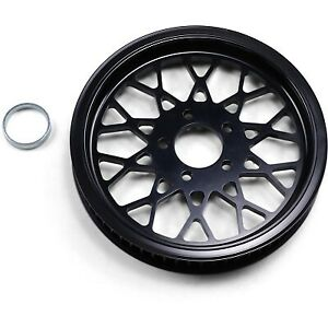 """BDL Mesh Black 1.5"""" Rear Belt Pulley 65-Tooth for Harley 86-99 Big Twin"""
