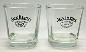 PAIR OF JACK DANIELS ROCKS GLASSES - GIFT SET PUB BAR WHISKEY 2 TWO TUMBLER