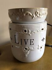LIVE LAUGH LOVE Ceramic Oil and Wax Tart Electric Warmer