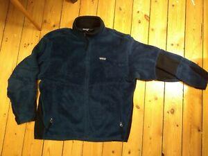 Patagonia Vtg Fleece Jacket Polartec Regulator R Size Large L Blue Full Zip Deep