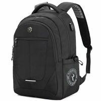 Backpack Shoulder Bag Laptop Holder USB Port Rucksack School College Travel