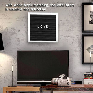 Wall Mounted Message Felt Letter Board Sign Changeable Letters Number Room Decor
